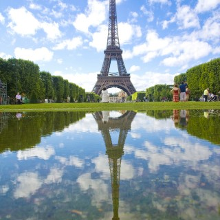 Eiffel Tower Reflected
