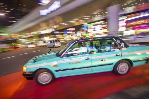 Taxi in Roppongi, Tokyo