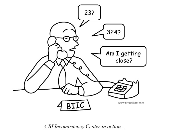 Cartoon: A BI Incompetency Center in action