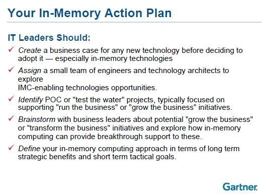 Why You Need An In-Memory Action Plan