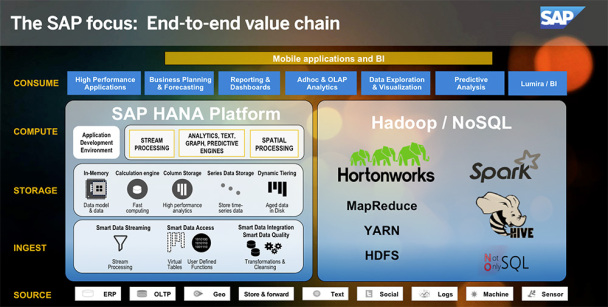 sap hadoop end to end value chain