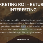 Return on Interesting Marketing Blog
