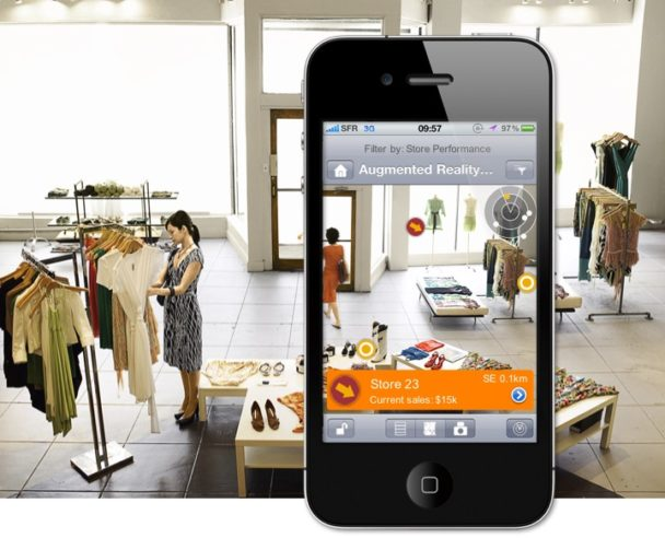 augmented reality inside store
