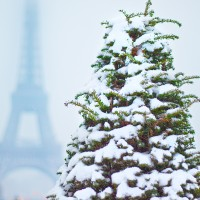 Eiffel Tower and Snow